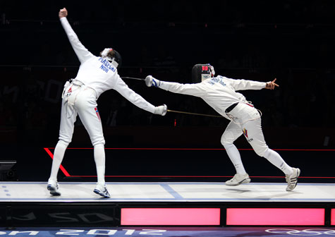 Olympic epee fencing